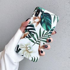 Plants leaves floral phone cases for iphone XS Max X XR XS matte TPU C elega - Iphone XS - Ideas of Iphone XS for sales. - Plants leaves floral phone cases for iphone XS Max X XR XS matte TPU C elegantonlinemarket Diy Iphone Case, Iphone Cases Disney, Floral Iphone Case, Art Phone Cases, Nike Iphone Cases, Custom Iphone Cases, Iphone 8 Plus, Iphone 10, Apple Iphone 6