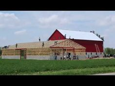 Ohio Amish Barn Raising - May 13th, 2014 in 3 Minutes and 30 seconds - YouTube