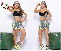 Conjunto top-Falda Shoer Ref. 621  Ropa Deportiva Colombiana Fitness, Sport Wear, Spinning, Body, Boho Shorts, Activewear, Curvy, Gym, Workout
