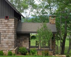 Poplar Bark Siding Design..we have this on the house we r getting ready to purchase..just getting ideas