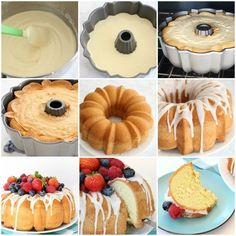 Homemade Vanilla Cake is the easiest recipe ever- just 4 ingredients & it tastes divine! I like to top this Easy Homemade Vanilla Cake with berries & a sweet almond glaze. Homade Cake Recipe, Perfect Vanilla Cake Recipe, Easy Homemade Cake, Homemade White Cakes, Homemade Vanilla Cake, Easy Cakes To Make, How To Make Cake, Delicious Cake Recipes, Easy Cake Recipes