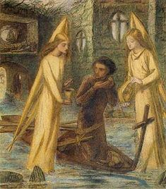 """""""The Quest of the Grail"""" by Elizabeth Siddal."""