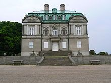 The Eremitage Palace or Eremitage Hunting Lodge (Danish: Eremitageslottet or Eremitagen) is located in Dyrehaven north of Copenhagen, Denmark. The palace was built by architect Lauritz de Thurah in Baroque style from 1734 to 1736 for Christian VI of Denmark in order to host royal banquets during royal hunts in Dyrehaven.