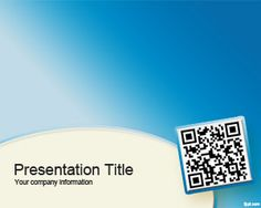Free QR code PowerPoint Template for technology PowerPoint presentations