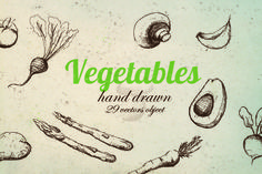 Vector Vegetable Pack by MonstroCity on @creativemarket