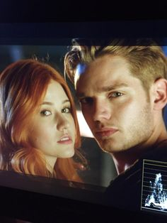 Behind the scenes Shadowhunter Photoshoot Clary and Jace #Clace