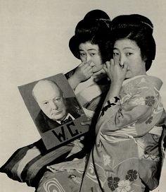Geisha girls not fond of Winston Churchill