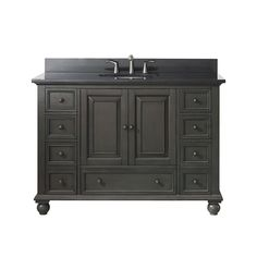 "Avanity Thompson 48"" Single Bathroom Vanity - Charcoal Glaze - Bathroom Vanities Only (HMS Stores)"