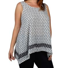 Beautiful plus size top Plus size asymmetrical sleeveless top. Other size also available . Price is firm unless bundled . Tops