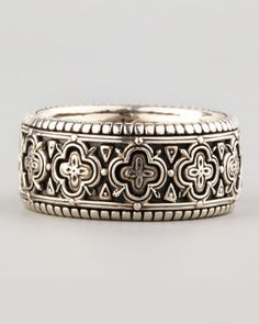Carved Sterling Silver Band Ring, Size 10 by Konstantino at Neiman Marcus.