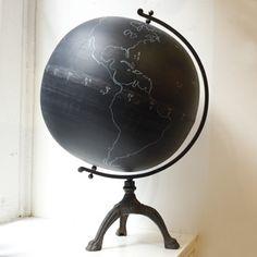 chalkboard globe: draw your own world