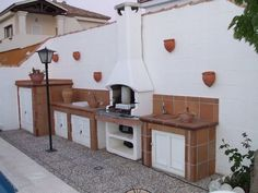 """Check out our website for even more info on """"outdoor kitchen designs ideas"""". It is actually an exceptional area for more information. Outdoor Oven, Outdoor Cooking, Brick Bbq, Kitchen Grill, Kitchen Dining Living, Barbecue Area, Fire Pit Backyard, Mediterranean Homes, Outdoor Kitchen Design"""