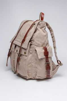 J. Campbell Washed Canvas Backpack.