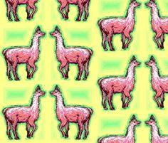 Spoonflower Fabric of the week voting: Llamas Llamas, Spoonflower Fabric, Gnomes, Camel, Moose Art, Original Art, Handmade, Animals, Design