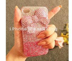 iPhone case, iPhone 4 Case, iPhone 4s Case, iPhone 5 Case, iPhone 5 bling case, bling iphone 4 case color gradient, iphone 4 case bow by iPhone5CaseBling, $24.98