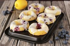 Baked Lemon Blueberry Donuts by www.cookingwithruhtie.com
