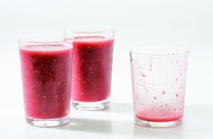 Double Berry #Smoothie #recipe from @gdelaurentiis #healthy