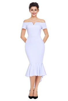 dinner Formal Party stars love in same as celebrity outfit Ladylike Slash Neck Off the Shoulder Short Sleeve Mermaid Dress 61738 Sexy Evening Dress, Mermaid Evening Dresses, Robe Swing, Swing Dress, Plus Size Maxi Dresses, Short Sleeve Dresses, Short Sleeves, Off Shoulder Mermaid Dress, Very Short Dress