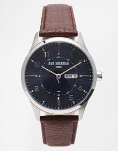 Ben Sherman Brown Leather Strap Watch WB002BR