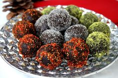 Cacao and Walnut Holiday Truffles (Raw, Vegan, Gluten-Free, Dairy-Free, Paleo-Friendly, No Refined Sugar) Recipe Desserts with walnuts, medjool date, raw cacao powder, vanilla extract, pistachios, goji berries