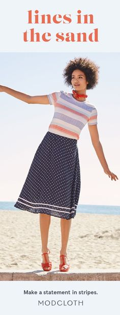 Wondering how to wear stripes? Always a classic, make your look modern by wearing stripes on stripes or mixing prints.