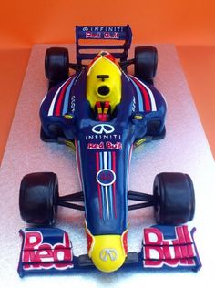 emmas first birthday Race Car Birthday, Birthday Drinks, Cars Birthday Parties, Boy Birthday, Novelty Birthday Cakes, Birthday Cakes For Men, Novelty Cakes, Red Bull F1, Red Bull Racing