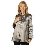 Marla Wynne Double Collar Jewel Box Shirt/Jacket