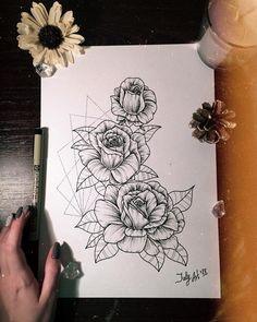 @julia_arttattoo Instagram #sketchflowers#tattooheart#linework#dotwork#blackwork#whiptattoo#tattoonsk#art#drawing#painting#pencil#watercolor#rosestattoo#rosesketch#tattoopins