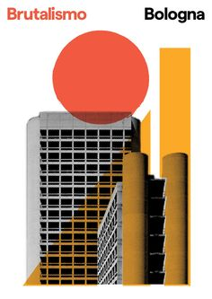 Brutalismo is a poster series of Italian brutalist architecture by London-based graphic designer Peter Chadwick Minimalist Graphic Design, Graphic Design Posters, Graphic Design Typography, Graphic Design Inspiration, Poster Designs, Circle Graphic Design, Graphic Art, Architecture Graphics, Architecture Design