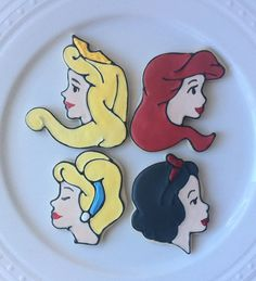 Disney Princess Decorated Cookies by peapodscookies