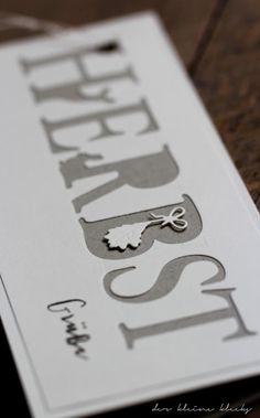 der kleine klecks Monochrom Charlie & Paulchen Herbstschriftzug Laternenkinder Blätterdeko Kraftpapier