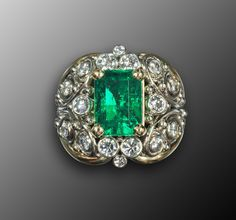 Emerald ring from Etsy