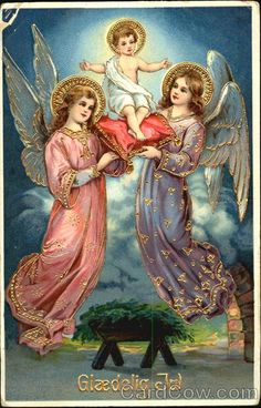 Two Angels holding a baby Series 8203 Giaedelig Jul