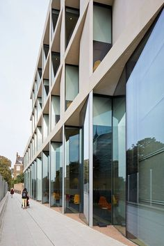 Façades of the new architecture school at the University of Greenwich by Heneghan Peng Architects