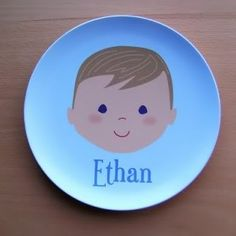 Personalized kids' plates (that look like your kid!) from Olliegraphic. A CMP favorite.