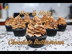 In this tutorial I show how I make my favorite chocolate buttercream! It uses both cocoa powder and melted chocolate, to really pack it with chocolate flavor. Chocolate Frosting Recipes, Chocolate Buttercream Frosting, Chocolate Flavors, Icing, How To Make Chocolate, Melting Chocolate, Gentilly Cake Recipe, Napoleon Cake, Buttercream Cupcakes