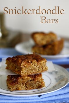 Thick and Chewy Snickerdoodle Bars | www.whatmegansmaking.com