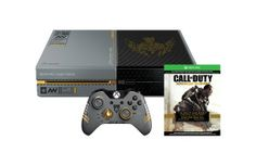 The Xbox One Limited Edition Call of Duty: Advanced Warfare Bundle includes a custom-designed Xbox One with 1TB hard drive, a full game download, unique exoskeleton, and more.
