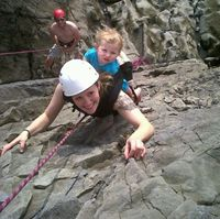 The family that climbs together...