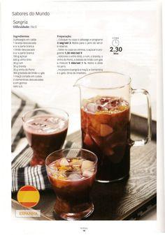 Revista bimby 13 Sangria, Smoothie Drinks, Smoothies, I Companion, Alcoholic Drinks, Cocktails, Good Food, Yummy Food, Breakfast Snacks