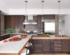A Dark And Handsome Kitchen. Walnut Kitchen CabinetsWood ...