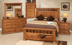 oak bedroom furniture | Cantera Rustic Oak Bedroom Furniture Set