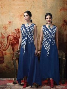 #navyblue #printdesign #polyester #gowns with #jacket   navy-blue gown with navyblue and cream colour box shape design jacket   party wear   printed top   navy-blue gown  