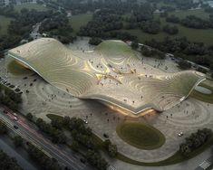 Exhibition Center of Otog | Kuan Wang http://www.arch2o.com/exhibition-center-of-otog-kuan-wang/