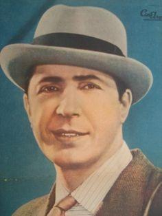 Antigua Lamina Revista Cine Argentino Homenaje Carlos Gardel ... Divas, A Good Man, Vignettes, Panama Hat, Nostalgia, Legends, Folklore, Argentina, Argentine Tango