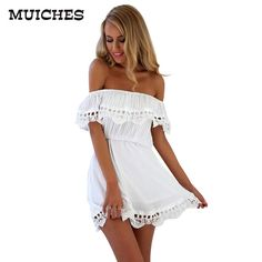 Find More Dresses Information about 2016 Fashion women Elegant Vintage sweet lace white Dress stylish sexy slash neck casual slim beach Summer Sundress vestidos,High Quality women defense,China women headband Suppliers, Cheap women spandex from muiches we Elegant Dresses For Women, Stylish Dresses, Sexy Dresses, Casual Dresses, Fashion Dresses, Summer Dresses, Mini Dresses, Lace Dresses, Fashion Clothes