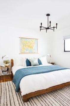 A Bright And Beautiful San Clemente Beach House – Homepolish Beach Cottage Style, Beach House Decor, Coastal Style, Home Decor, Beach Houses, Beach Cottages, Coastal Living, Home Bedroom, Bedroom Decor
