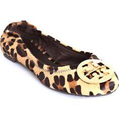 59e39010e4bce Leopard Print Ballet Flats - Tory Burch. Well okay
