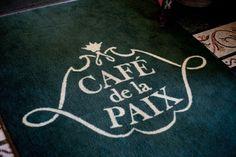 cafe de la paix wedding ... like the design around text