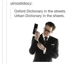 ALL I CAN THINK OF IS KINGSMAN AND I LOVE IT